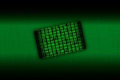 Hakkerkaart met groene nummers Royalty-vrije Stock Fotografie