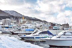 Hakodate bay in Hokkaido, Japan royalty free stock photo