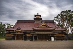 Hakodate castle or Former Magistrate Office, Japan stock photography