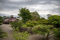Hakodate castle or Former Magistrate Office, Japan stock image