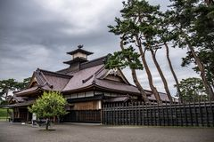 Hakodate castle or Former Magistrate Office, Japan stock photos