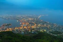 Hakodate City view from Mountain Hakodate in night Hokkaido Stock Image