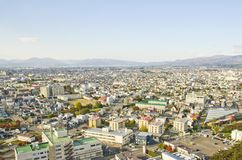 Hakodate City on the viewpoint Royalty Free Stock Photography