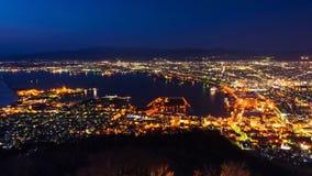 Hakodate Cityscape At Dusk Stock Photography