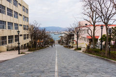 Hakodate, Hachiman zaka slope at Motomachi Stock Image