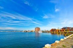 Hakodate-Hafen in Hakodate, Hokkaido, Japan Stockfotos