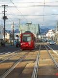 Hakodate, Hokkaido, Japan. Electric tram in Hakodate, Hokkaido Stock Photography