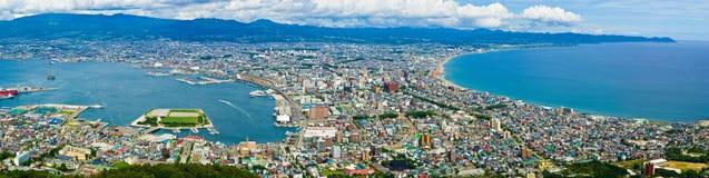 Hakodate, Hokkaido, Japan. Daytime view of Hakodate from Mount Hakodate, Hokkaido, Japan Royalty Free Stock Photo