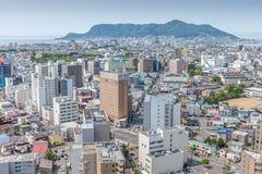 Hakodate, Hokkaido, Japan- June 9, 2016. Hakodate city view from Royalty Free Stock Photos