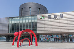 Hakodate, Hokkaido, Japan 6. Juni 2016 Front der JR.-Eisenbahn Hak Stockfotografie