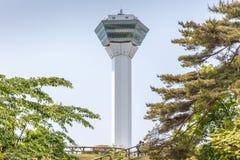 Hakodate, Hokkaido, Japan 9. Juni 2016 Goryokaku-Turm observa Lizenzfreie Stockbilder