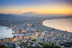 Hakodate, Japan City Skyline Royalty Free Stock Photos