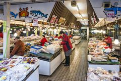 Hakodate, Japan Fish Market Stock Images