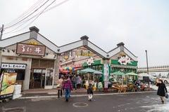 Hakodate, Japan, January 28, 2018: Fresh seefood and produce ret Stock Photos