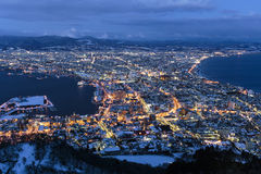 Hakodate magic hour Stock Images