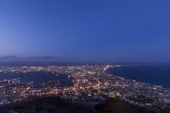 Hakodate miasta widok Obraz Royalty Free