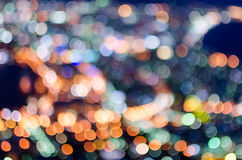Hakodate night light blurry Royalty Free Stock Photo