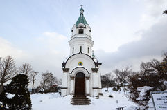 Hakodate Orthodox Church, Hakodate , Hokkaido , Japan. The Orthodox Church in Japan founded in 1859 by the Russian Consulate. The existing building, built in Royalty Free Stock Photo