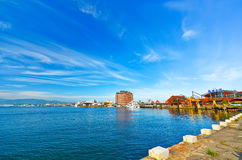 Hakodate port in Hakodate, Hokkaido, Japan Stock Photos