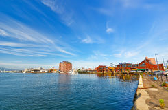 Hakodate port in Hakodate, Hokkaido, Japan Stock Image