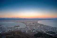 Hakodate-Stadtansicht von Mt Hakodate Stockfotografie