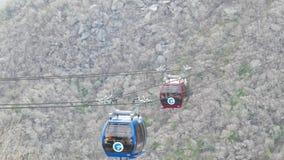 Hakone-Drahtseilbahnüberschreiten von Hakone-Berg