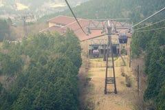 Hakone-Drahtseilbahn mit Naturhintergrund Lizenzfreies Stockfoto