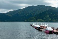 Hakone, Giappone Il lago Ashi è un bello piccolo lago, un favorito f Fotografia Stock