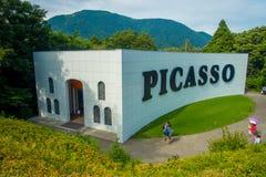 HAKONE, JAPAN - JULI 02, 2017: De bouw van PICASSO bij is hij het Openluchtmuseum of Hakone Chokoku van Hakone Geen Mori Bijutsuk Stock Afbeelding