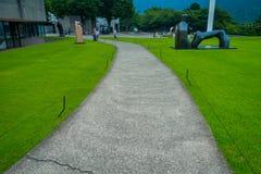 HAKONE, JAPAN - JULI 02, 2017: Het Openluchtmuseum of Hakone Chokoku van Hakone Geen Mori Bijutsukan zijn populair museum Royalty-vrije Stock Afbeelding