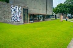 HAKONE, JAPAN - JULI 02, 2017: Het Openluchtmuseum of Hakone Chokoku van Hakone Geen Mori Bijutsukan zijn populair museum Royalty-vrije Stock Foto