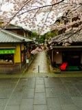 HAKONE JAPAN - JULI 02, 2017: Higashiyama område med körsbärsröda blomningar våren i Kyoto Arkivbilder
