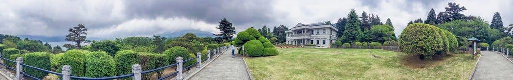 HAKONE, JAPAN - 25. MAI 2016: Touristen in einem Stadtpark Hakone ist Lizenzfreie Stockfotos