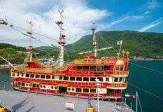 HAKONE, JAPAN - MAY 24, 2016:  The Hakone Sightseeing Cruise ser Stock Photo