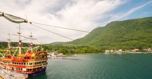 HAKONE, JAPAN - MAY 24, 2016:  The Hakone Sightseeing Cruise ser Stock Photography