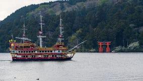 red pirate ship on Ashi lake, Hakone Stock Photos