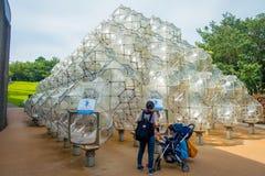 HAKONE JAPONIA, LIPIEC, - 02, 2017: Mydlanego bąbla kasztel, Hakone na otwartym powietrzu muzeum na Kwietniu 10, 2013 hakone na o Fotografia Royalty Free