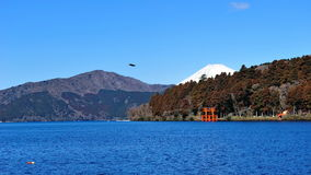 Hakone Lake and Mount Fuji Stock Photo