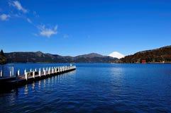 Hakone Lake and Mount Fuji Royalty Free Stock Photos