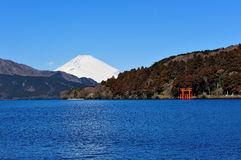 Hakone Lake and Mount Fuji Stock Images