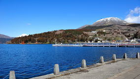 Hakone Lake and mountains Royalty Free Stock Image