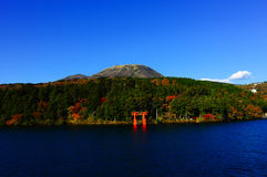 Hakone lake Royalty Free Stock Photo