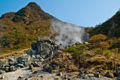 Hakone Mountain. Volcanic Activity At Hakone Mountain in Japan Stock Photography