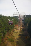 Hakone Rope Way. The landscape photo of Hakone area in Shizuoka, Japan Royalty Free Stock Photos