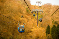 Hakone ropeway cable car stock photography
