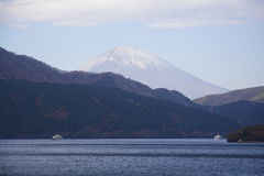 Hakone See Lizenzfreies Stockbild