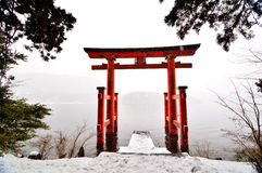Hakone Shrine Tori Royalty Free Stock Photography
