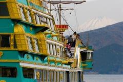 Hakone sightseeing pirate cruise ship The Vasa on Ashi lake royalty free stock photo