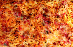 Hakt de oven gebakken spaghetti met kaas en fijn Royalty-vrije Stock Foto