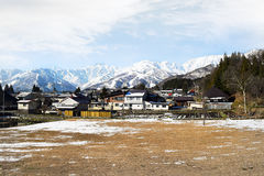 Hakuba mountain range in afternoon early winter. Hakuba mountain range in the afternoon early winter.  The steep terrain in the centre is between two ski resorts Stock Images